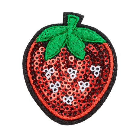 Photo for Strawberry sequin patch - Royalty Free Image