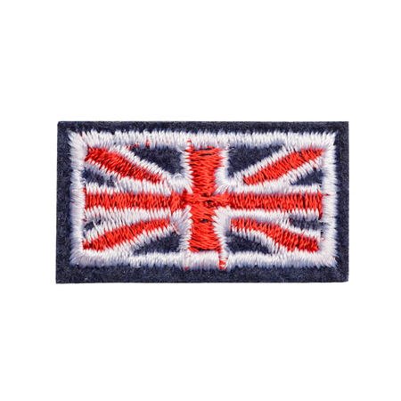 Foto de Great Britain flag fabric patch - Imagen libre de derechos