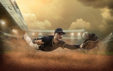 Photo for Baseball players in action on the stadium. - Royalty Free Image