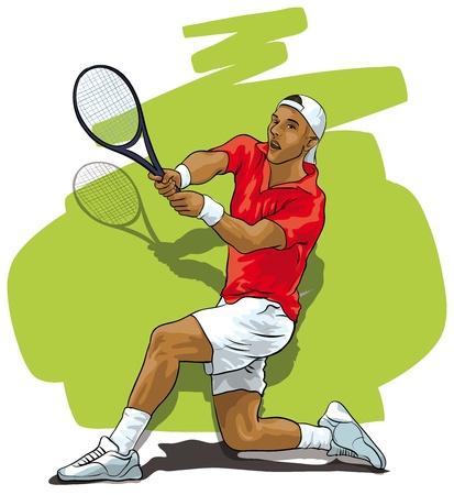 Great tennis. Athlete reflecting shock