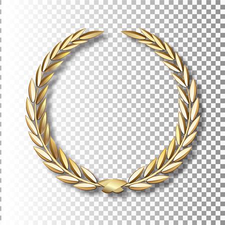 Illustration for Vector gold laurel wreath.Laurel wreath with golden ribbon. EPS 10 - Royalty Free Image