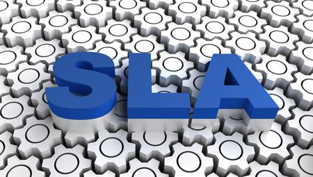 Photo pour SLA - Service-level agreement - image libre de droit
