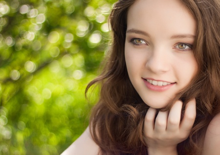 beautiful teen girl portrait outdoor