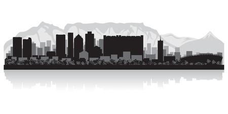 Ilustración de Cape Town city skyline silhouette  illustration - Imagen libre de derechos
