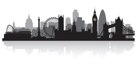 Ilustración de London city skyline silhouette vector illustration - Imagen libre de derechos
