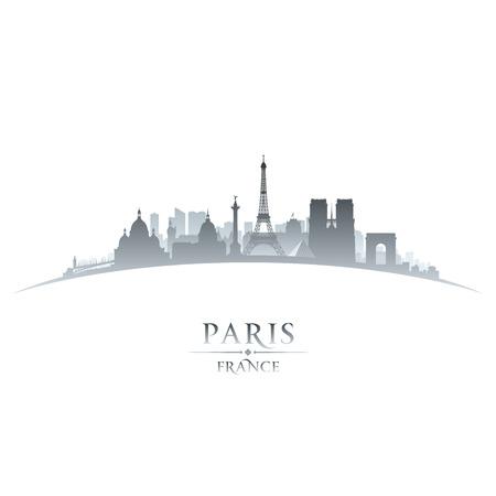 Illustration pour Paris France city skyline silhouette. Vector illustration - image libre de droit