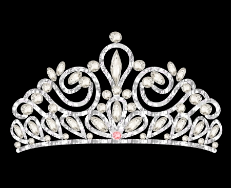 illustration tiara crown womens wedding with white stones mural