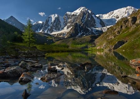 Mountain lake, West Siberia, Altai mountains, Chuya ridge