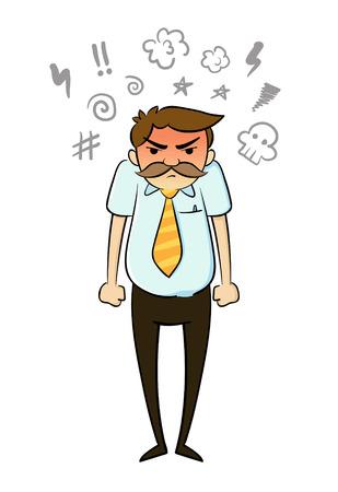 Illustrazione per Angry Businessman - Immagini Royalty Free