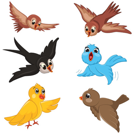 Illustration pour Birds Illustration Set - image libre de droit