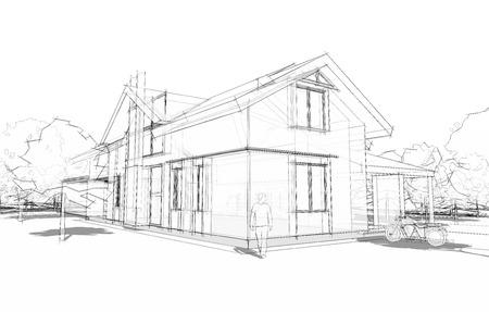 Photo pour model of house - image libre de droit