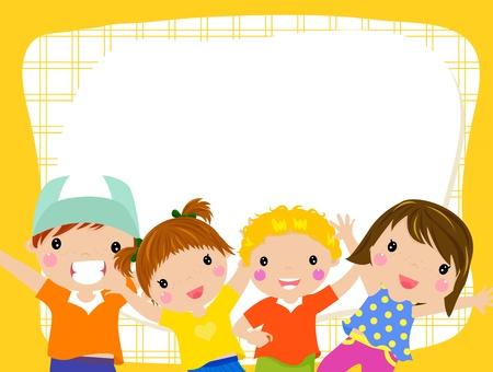 Illustration for kids and frame - Royalty Free Image