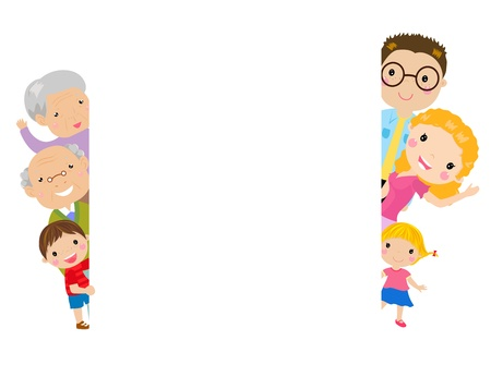 Illustration for family and frame  - Royalty Free Image
