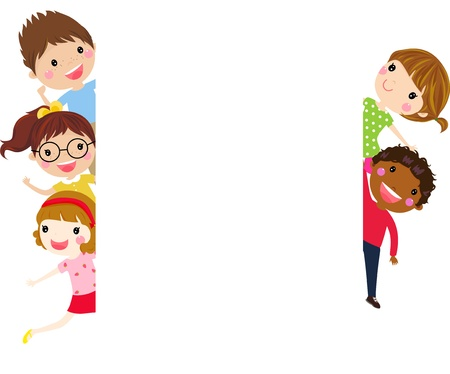 Illustration for Kids and banner - Royalty Free Image
