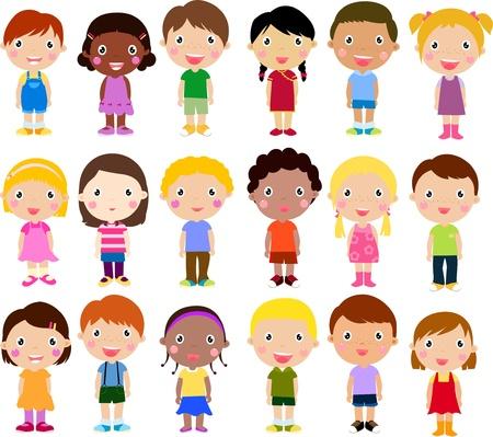 Illustration pour Group of children - image libre de droit