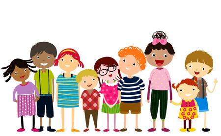 Illustration pour group of children having fun - image libre de droit