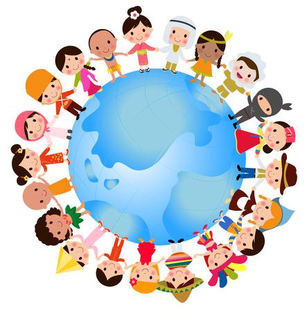 Illustration for World kids - Royalty Free Image