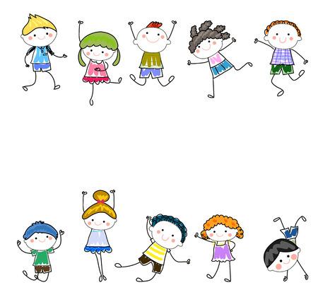 Ilustración de Happy Kids - Imagen libre de derechos