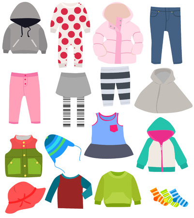 Illustration for set of children\'s clothes - Royalty Free Image