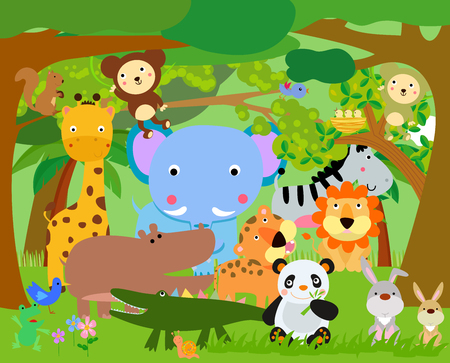 Photo pour Fun Jungle Animals - image libre de droit