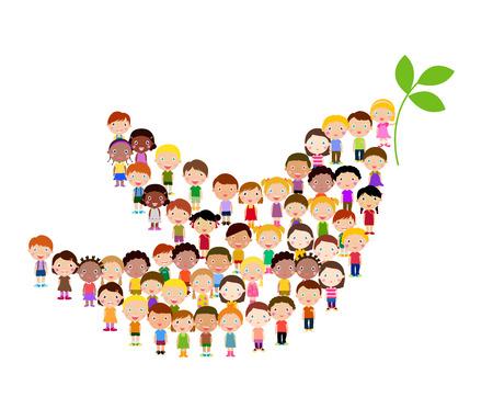 Ilustración de Symbol of peace - children - Imagen libre de derechos