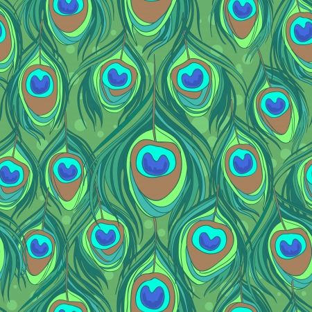 Photo pour Colorful peacock feather seamless  pattern - image libre de droit