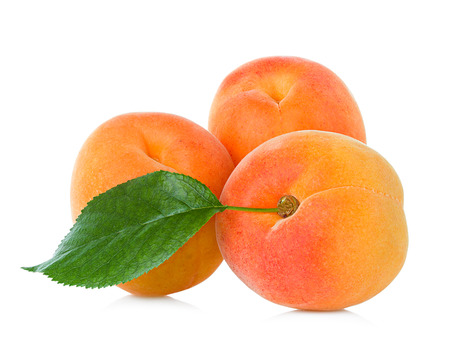 Photo for Fresh apricots isolated on white - Royalty Free Image