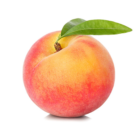 Photo pour Peach isolated on white background - image libre de droit