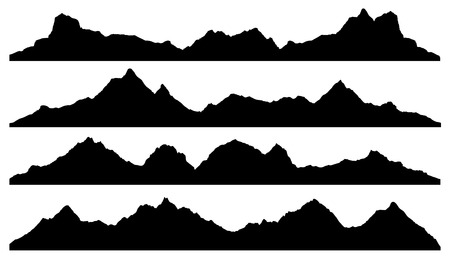 Illustration pour mountain silhouettes on the white background - image libre de droit
