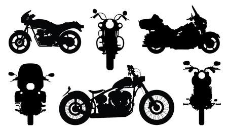 Illustration pour chopper silhouettes on the white background - image libre de droit
