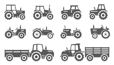 Illustration pour tractors on the white background - image libre de droit