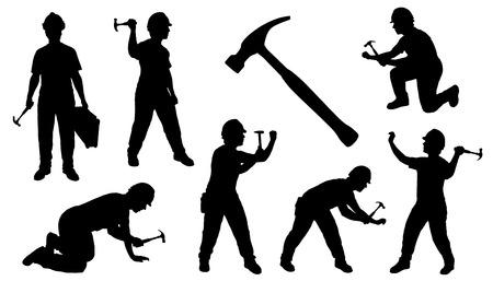 Illustration pour handyman hammer on the white background - image libre de droit