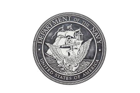 Foto de U.S. Navy  official seal on a white background. - Imagen libre de derechos