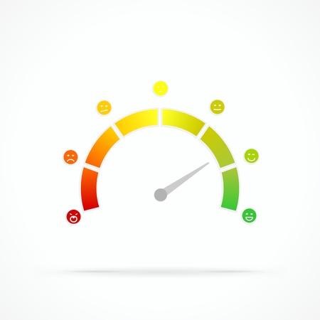 Illustration pour Satisfaction meter abstract vector logo - image libre de droit
