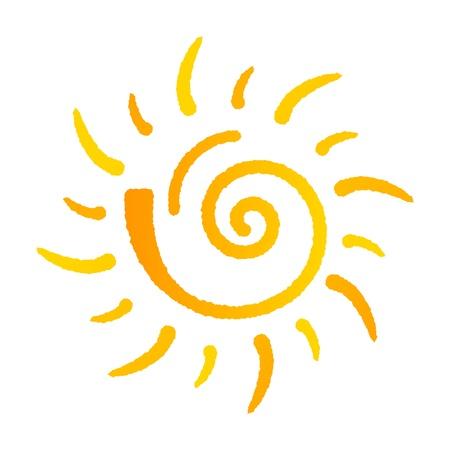 Ilustración de Summer sun logo isolated on white background - Imagen libre de derechos