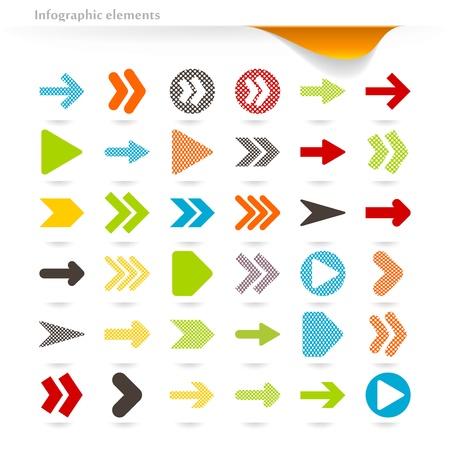Ilustración de Collection of vector inforgaphic arrows - Imagen libre de derechos