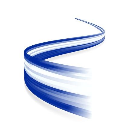 Ilustración de Abstract Greek waving flag isolated on white background - Imagen libre de derechos