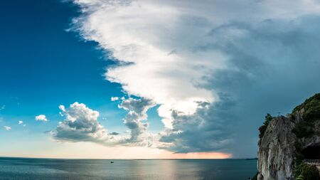 Photo for Storm over the sea in the gulf of Trieste, Friuli Venezia-Giulia, Italy - Royalty Free Image