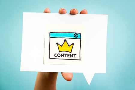 Photo pour Content marketing online concept - image libre de droit