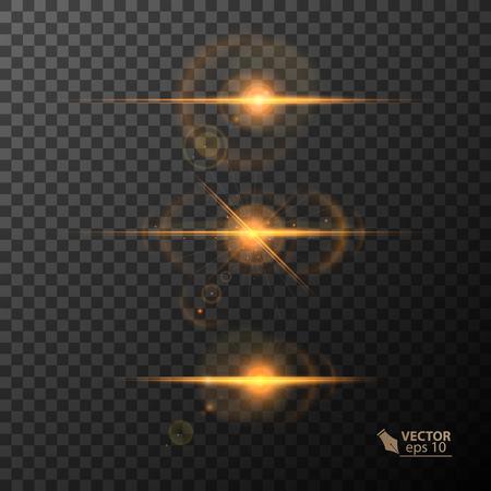Ilustración de Glowing lights and stars. on transparent background. - Imagen libre de derechos
