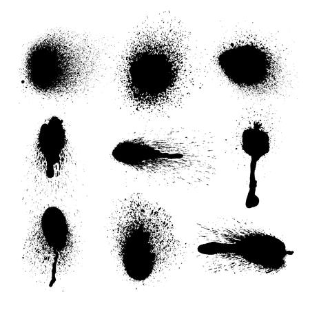 Ilustración de Vector set of ink splashes on white background - Imagen libre de derechos