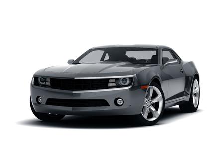 Foto de Black sports car isolated on white background - Imagen libre de derechos