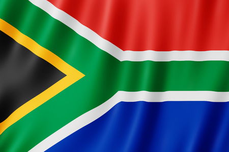 Photo for Flag of South Africa. Illustration of the South African flag waving. - Royalty Free Image