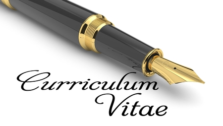 Photo for Curriculum Vitae word handwritten with fountain pen - Royalty Free Image
