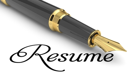 Photo for Resume word handwritten with fountain pen - Royalty Free Image