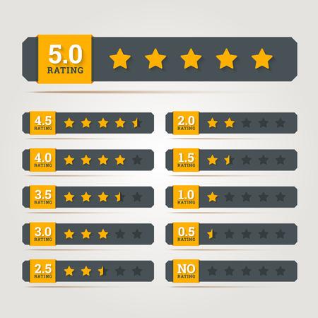 Ilustración de Rating stars badges. Vector illustration in EPS10. - Imagen libre de derechos