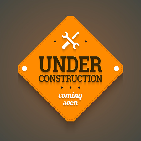 Photo for Under construction with coming soon label.  - Royalty Free Image