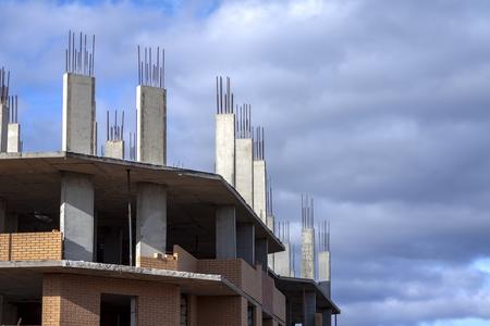 Photo pour Construction of a new multi-storey residential building - image libre de droit