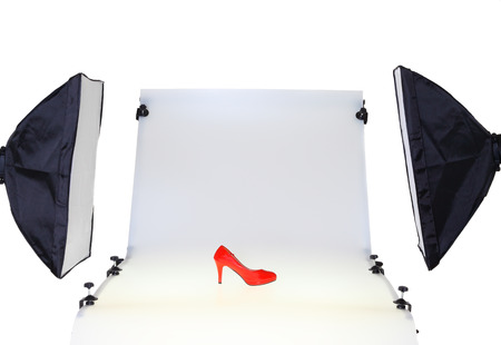 Photo for Photo table in the photo studio - Royalty Free Image