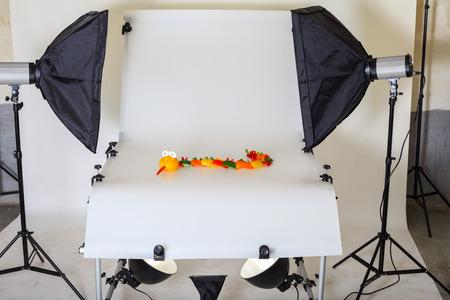 Photo pour Photo Table for product photography in a studio - image libre de droit